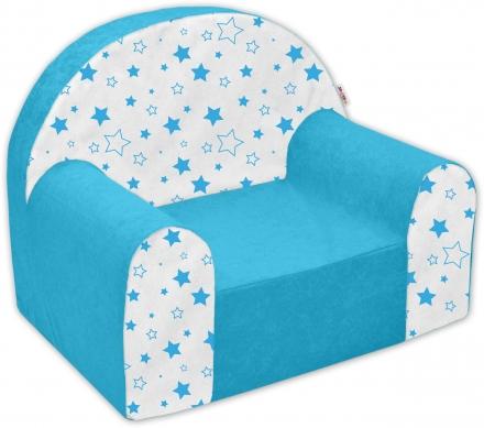 44f76c60cde2 Detské kresielko   pohovečka Nellys ® - Magic star - modré empty